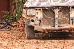 Автомобиль аварии поврежденный аварией стоковая фотография rf