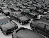 Автомобиль автомобилей Uber готовый для того чтобы расширить дело Стоковая Фотография