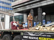 Автомобиль армии на выставке 3014 мэра лорда Лондон Стоковое фото RF