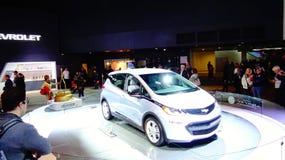 Автомобиль болта EV MotorTrend Шевроле года Стоковое Изображение
