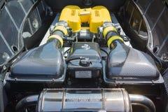 Автомобиль двигателя Феррари на дисплее Стоковая Фотография