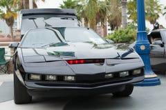 Автомобиль всадника рыцаря Kitt на дисплее Стоковое Изображение RF