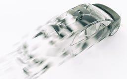 Автомобиль выходить скорость - перевод 3D Иллюстрация вектора