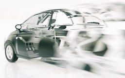 Автомобиль выходить скорость - перевод 3D Иллюстрация штока
