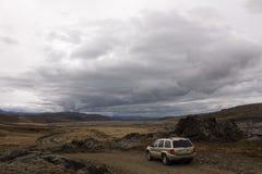 Автомобиль в Исландии Стоковые Фото
