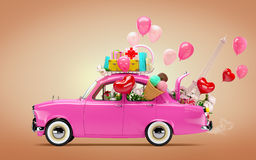 Автомобиль влюбленности иллюстрация вектора