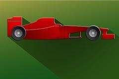 Автомобиль гонки формулы красный детальный конструировал собой Стоковые Фото