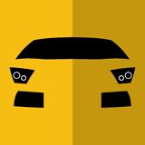 Автомобиль желтого цвета вид спереди вектора Стоковое Изображение