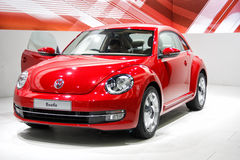 Автомобиль жука volkswagon открытый на дисплее Стоковое Фото
