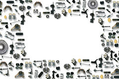 Автомобиль запасных частей на белой предпосылке Стоковые Изображения RF