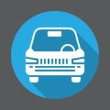 Автомобиль, значок корабля плоский Круглая красочная кнопка, круговой знак вектора с длинным влиянием тени Плоский дизайн стиля Стоковые Фотографии RF