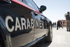 Автомобиль итальянской руки carabinieri Стоковое фото RF