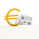 Автомобиль и евро иллюстрация штока