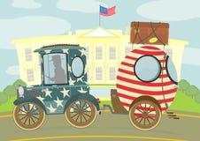 Автомобиль и караван Стоковая Фотография RF