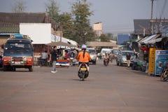 Автомобиль и мотоцикл Стоковые Фотографии RF