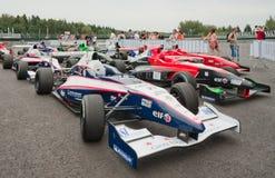 Автомобиль команды GP гонки в paddock Стоковое фото RF
