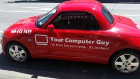 Автомобиль компьютерной поддержки Стоковое Фото