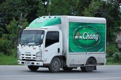 Автомобиль контейнера TBL для контейнера пива Стоковое фото RF