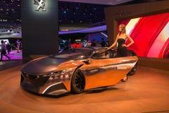 Автомобиль концепции оникса Пежо Стоковая Фотография