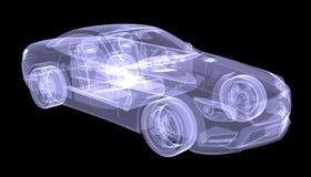 Автомобиль концепции рентгеновского снимка Стоковое Изображение RF