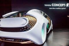 Автомобиль концепции Тойота на CES 2017 Стоковое Изображение