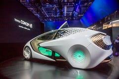 Автомобиль концепции Тойота на CES 2017 Стоковое фото RF