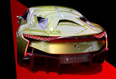 Автомобиль концепции DS E-TENSE гибридный Стоковая Фотография RF