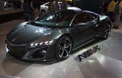Автомобиль концепции Honda NSX на автосалоне NY стоковые изображения rf