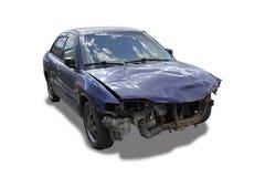 Автомобиль, который разбили под предпосылкой whie Стоковое Изображение RF