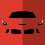 Автомобиль красного цвета вид спереди вектора Стоковые Фото