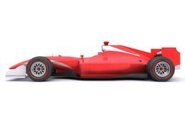 Автомобиль красного цвета гонки формулы Взгляд со стороны Стоковое Изображение