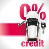Автомобиль кредита на красном ковре Стоковое Изображение RF