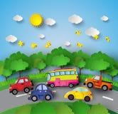 Автомобиль на дороге иллюстрация штока