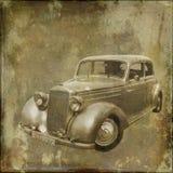 Автомобиль на текстуре Стоковые Изображения