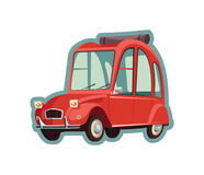 автомобиль немногая красное Стоковое Изображение RF