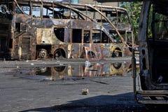 Автомобиль ожога Стоковая Фотография RF