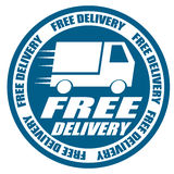 Автомобиль доставки бесплатной доставки иллюстрация вектора