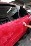 Автомобиль отполированный и покрытие воска Стоковые Изображения