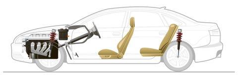 Автомобиль отрезка-прочь Стоковые Изображения