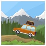 Автомобиль перемещения Стоковые Фотографии RF