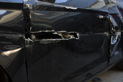 Автомобиль после аварии Стоковые Фото