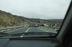 Автомобиль полисмена на дороге американца лотка Стоковые Изображения