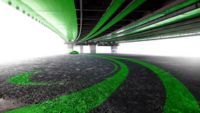 Автомобиль под мостом Стоковая Фотография RF