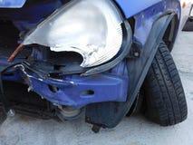автомобиль разбил Стоковое Фото