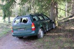 автомобиль разбил Стоковая Фотография RF