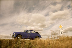 автомобиль разделяет ретро русского Стоковое Фото