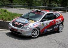 Автомобиль ралли Honda Civic Стоковые Фото