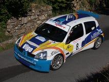 Автомобиль ралли 1600 Renault Clio супер Стоковая Фотография