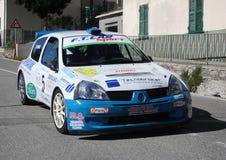 Автомобиль ралли 1600 Renault Clio супер Стоковое Изображение RF
