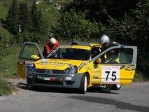 Автомобиль ралли Renault Clio Стоковая Фотография